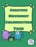 Creative Movement Culminating Task