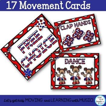 Creative Movement: Patriotic Moves for Music and Brain Break Activities K-6