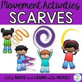 Scarf and Ribbon Movement Activity Presentation, Posters, Flashcards