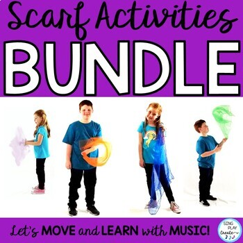 Creative Movement Scarf Activity Bundle: Music, PE, Preschool, Special needs and music and movement classes