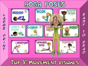Creative Movement Sign Bundle- Top 10 Movement Visuals- 6 Sets