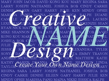 Creative Name Design PowerPoint