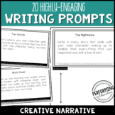 Writing Creative Narrative Writing Prompts for Grades 3, 4, 5 with Brainstorming