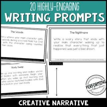 Creative Narrative Writing: 20 High-Interest Writing Prompts