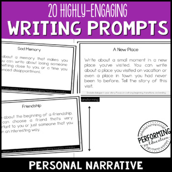 Personal Narrative Writing Prompts Worksheets Teaching