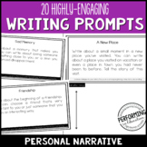 Writing Personal Narrative Writing Prompts for Grades 3, 4