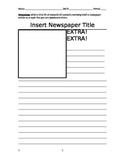Creative Newspaper Article Template - EDITABLE