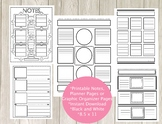 Creative Notes Pack 1 - Graphic Organizers, Notetaking, Pl