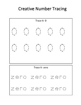 Creative Number Learning 0