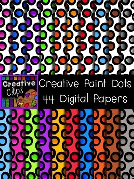 Creative Paint Dot Papers {Creative Clips Digital Clipart}