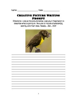 Creative Picture Writing Prompts