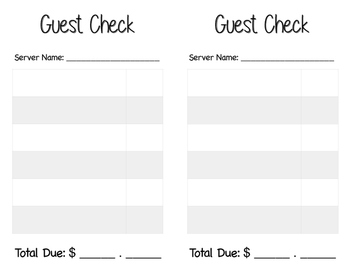 Creative Play Guest Check