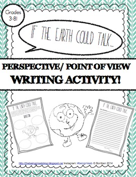 Creative Point of View Letter Writing! If the Earth Could Talk! Earth Day!