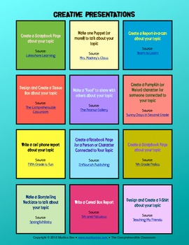 creative presentation formats by the comprehensible classroom by