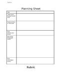 Creative Presentation Planning Sheet and Rubric