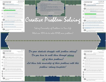 Creative Problem Solving - Printable Template
