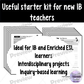 Project Workbook (Environment Project & Career Guide) for IB learners