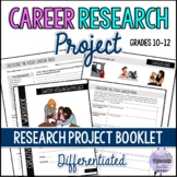 Differentiated Career Research Project Booklet ESL/ELA