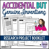 Creative Project Booklet - Accidental Inventions ESL/ELA