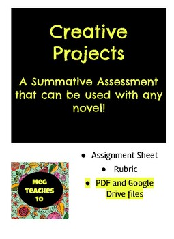 Creative Projects - Use with Any Novel or Literature!