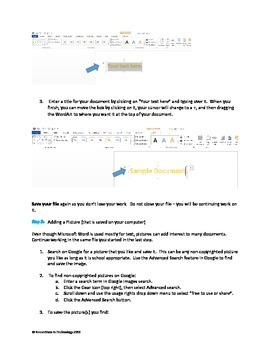 Creative Projects using Microsoft Word:  Shapes, WordArt, Borders & MORE