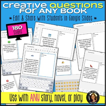 Creative Questions for ANY Novel or Story Editable Distance Learning