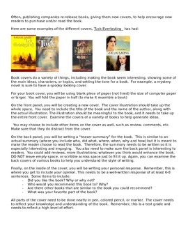 Creative Reading Project - Design a Book Cover! (rubric and guidelines)