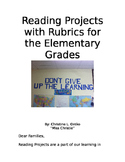 Creative Reading Projects with Rubrics for an entire year!