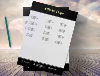 Creative Resume Template 3page  | Black Modern | Olivia Pope