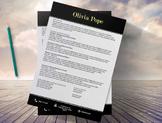 Creative Resume Template 3page  | Black Modern | Olivia Pope