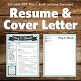 Creative Resume Template - Chevron Banner