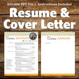 Creative Resume Template - Rainbow Border