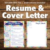 Creative Resume Template - Stripes Banner