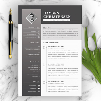 Creative Resume With Cover Letter Template By Resumeinventor Tpt