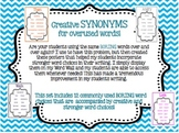 Creative SYNONYMS for overused words!! Posters to help students!!