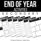Creative Secondary End of Year Activities
