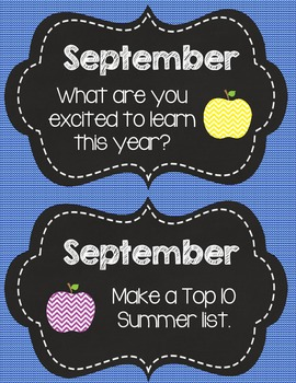 Creative September Writing Prompts