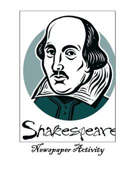 Creative Shakespeare:  Elizabethan Newspaper