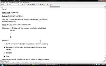 Creative Social Studies Lesson Plan