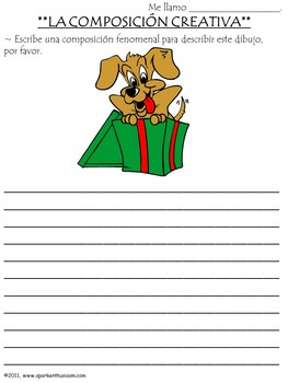 Creative Spanish Holiday Writing & Speaking Activities with Rubrics