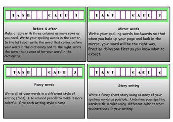 Task Cards 20 Creative Spelling Activities Printable Task Cards For Years 2-5