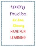 Creative Spelling Practice