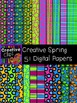 Creative Spring Papers {Creative Clips Digital Clipart}