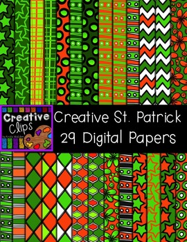 Creative St Patrick Papers {Creative Clips Digital Clipart}