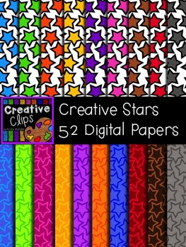 Creative Star Papers {Creative Clips Digital Clipart}