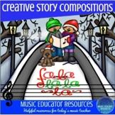 Creative Story Music Compositions- Christmas Fa La La! (Reproducible)