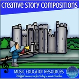 Creative Story Music Compositions- Medieval Quest (Reproducible)