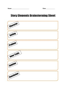Creative Story Elements Graphic Organizer
