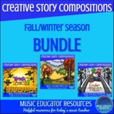 Creative Story Music Compositions BUNDLE (Halloween, Fall,