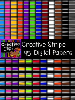 Creative Stripe Papers {Creative Clips Digital Clipart}